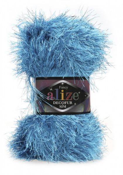 Poze Fir de tricotat sau crosetat - FANCY - ALIZE DECOFUR SIM - ALBASTRU - 245