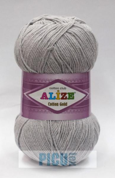 Poze Fir de tricotat sau crosetat - Fir ALIZE COTTON GOLD GRI 200