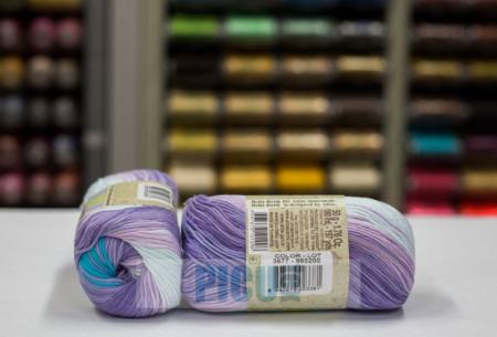 Poze Fir de tricotat sau crosetat - Fir BUMBAC 100% ALIZE BELLA BATIK 3677