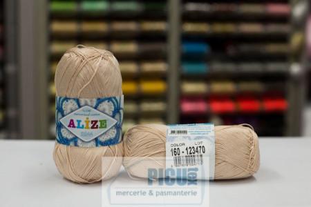 Poze Fir de tricotat sau crosetat - Fir BUMBAC 100% ALIZE MISS BEJ 160