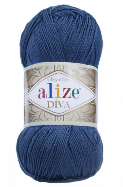 Poze Fir de tricotat sau crosetat - Fir microfibra ALIZE DIVA BLEUMARIN 279