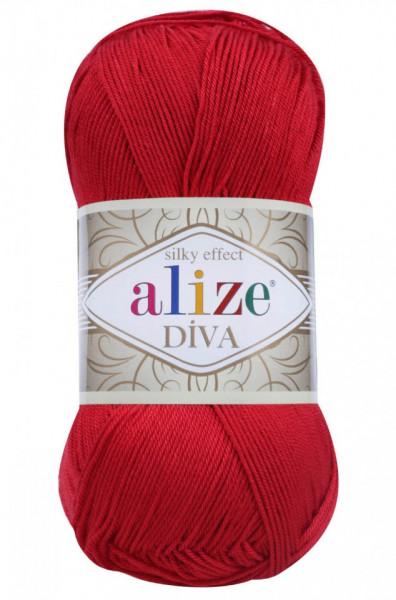 Poze Fir de tricotat sau crosetat - Fir microfibra ALIZE DIVA ROSU 106