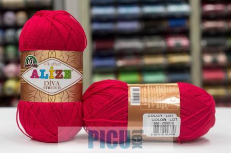Poze Fir de tricotat sau crosetat - Fir microfibra ALIZE DIVA STRETCH ROZ 396