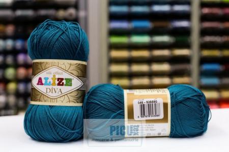 Poze Fir de tricotat sau crosetat - Fir microfibra ALIZE DIVA TURQUAZ 646