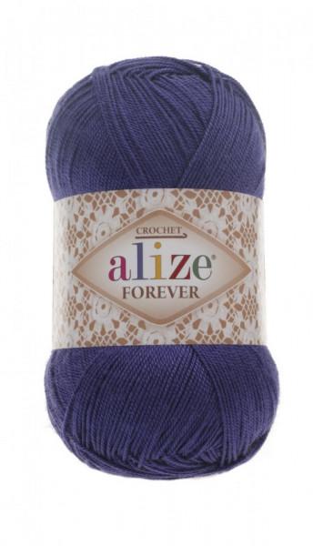 Poze Fir de tricotat sau crosetat - Fir microfibra ALIZE FOREVER ALBASTRU 141