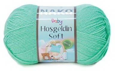 Poze Fir de tricotat sau crosetat - Fire amestec BAMBUS + POLIAMIDA NAKO Hoşgeldin Soft TURCOAZ 11216