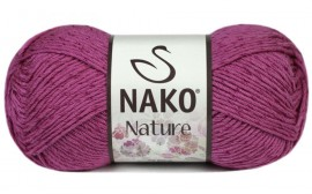 Poze Fir de tricotat sau crosetat - Fire amestec Bumbac + Acril + Vascoza NAKO NATURE Roz 10550