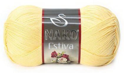 Poze Fir de tricotat sau crosetat - Fire amestec Bumbac + Bambus NAKO ESTIVA GALBEN 215
