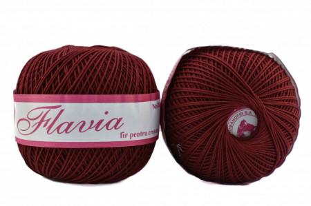 Poze Fir de tricotat sau crosetat - Fire Bumbac 100% FLAVIA ROMANOFIR BOBINA GRENA 1334