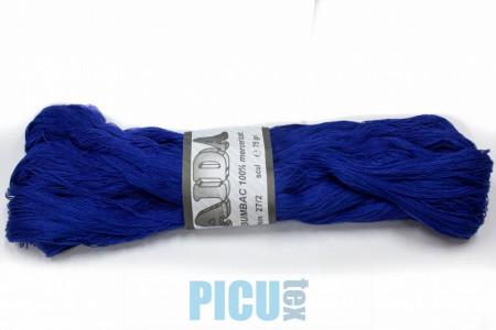 Poze Fir de tricotat sau crosetat - Fire Bumbac 100% mercerizat AIDA ROMANOFIR SCUL ALBASTRU 1242