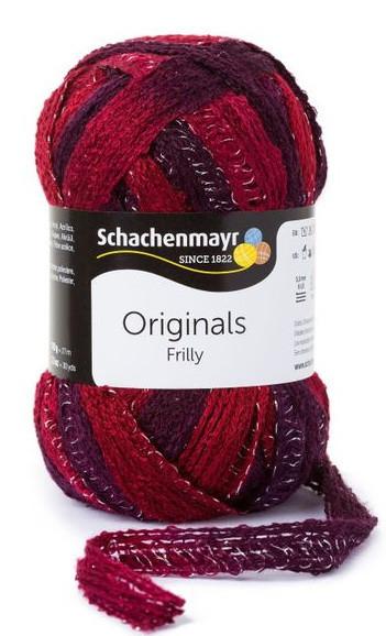 Poze Fir de tricotat sau crosetat - Fire pretricotate esarfa FRILLY degrade 084
