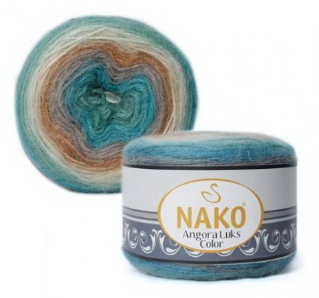 Poze Fir de tricotat sau crosetat - Fire tip mohair acril NAKO ANGORA LUKS COLOR 81906