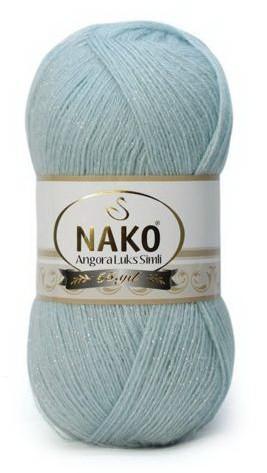 Poze Fir de tricotat sau crosetat - Fire tip mohair acril NAKO ANGORA LUKS SIMLI COD 10471