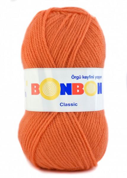 Poze Fir de tricotat sau crosetat - Fire tip mohair din acril BONBON CLASIC PORTOCALIU 98323