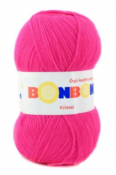 Poze Fir de tricotat sau crosetat - Fire tip mohair din acril BONBON KRISTAL roz 98396