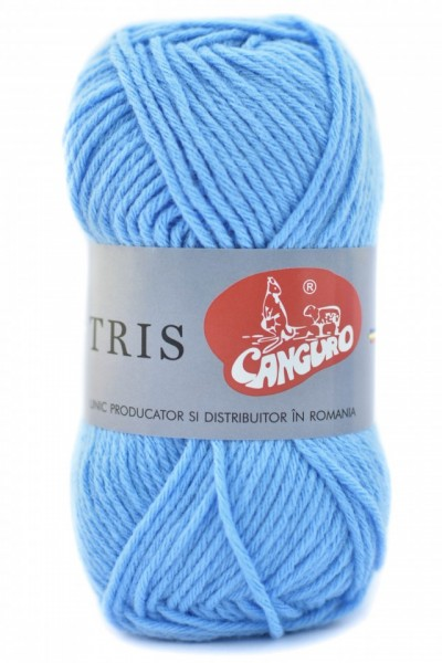 Poze Fir de tricotat sau crosetat - Fire tip mohair din acril CANGURO - TRIS BLEO 322