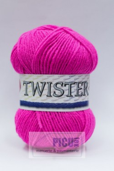 Poze Fir de tricotat sau crosetat - Fire tip mohair din acril CANGURO - TWISTER ROZ 308