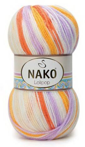 Poze Fir de tricotat sau crosetat - Fire tip mohair din acril degrade Nako Lolipop degrade 81631
