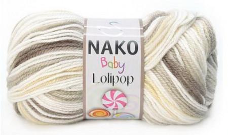 Poze Fir de tricotat sau crosetat - Fire tip mohair din acril degrade Nako Lolipop mix 80563