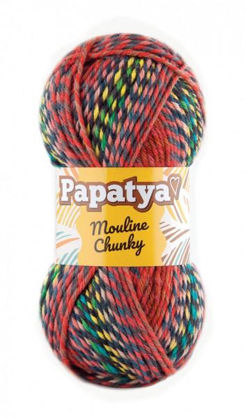 Poze Fir de tricotat sau crosetat - Fire tip mohair din acril Kamgarn Papatya Mouline Chunky Degrade 5772