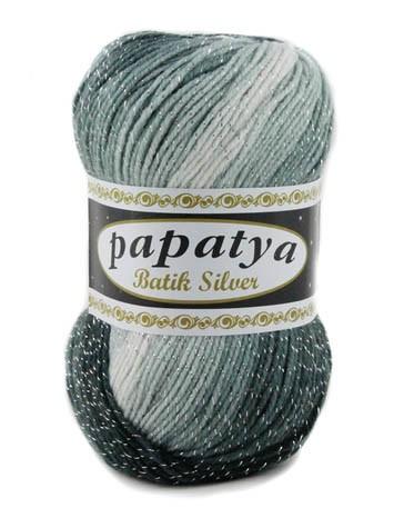 Poze Fir de tricotat sau crosetat - Fire tip mohair din acril Kamgarn Papatya Silver Batik degrade 24