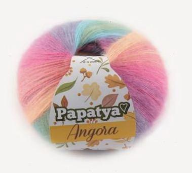 Poze Fir de tricotat sau crosetat - Fire tip mohair din acril Kamgarn Papatya Angora degrade 11