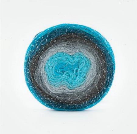Poze Fir de tricotat sau crosetat - Fire tip mohair din acril Kamgarn Papatya CAKE SILVER degrade 312