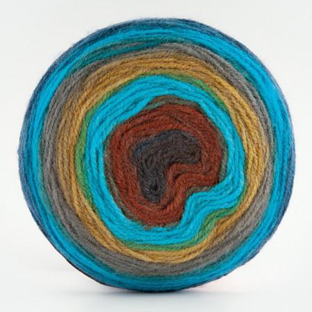 Poze Fir de tricotat sau crosetat - Fire tip mohair din acril Kamgarn Papatya CAKE degrade 216