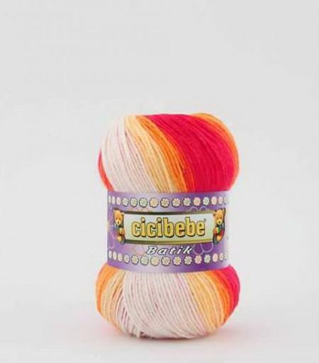 Poze Fir de tricotat sau crosetat - Fire tip mohair din acril Kamgarn Cicibebe Batik degrade 07