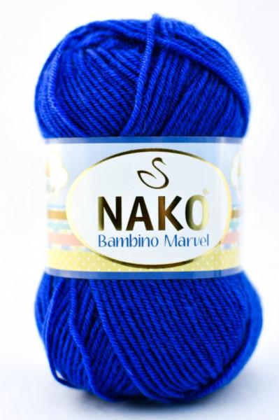 Poze Fir de tricotat sau crosetat - Fire tip mohair din acril Nako Baby MARVEL ALBASTRU 133