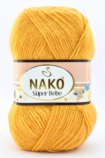 Poze Fir de tricotat sau crosetat - Fire tip mohair din acril Nako SUPER BEBE GALBEN 3810