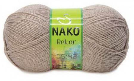 Poze Fir de tricotat sau crosetat - Fire tip mohair din acril premium Nako REKOR BEJ 257