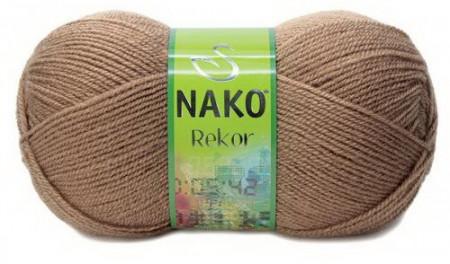 Poze Fir de tricotat sau crosetat - Fire tip mohair din acril premium Nako REKOR BEJ 221