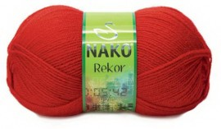 Poze Fir de tricotat sau crosetat - Fire tip mohair din acril premium Nako REKOR ROSU 207