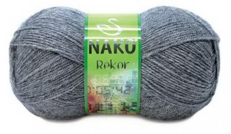 Poze Fir de tricotat sau crosetat - Fire tip mohair din acril premium Nako REKOR GRI 194