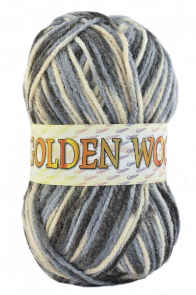 Poze Fir de tricotat sau crosetat - Fire tip mohair din acril si lana GOLDEN WOOL IMPRIMAT - 376