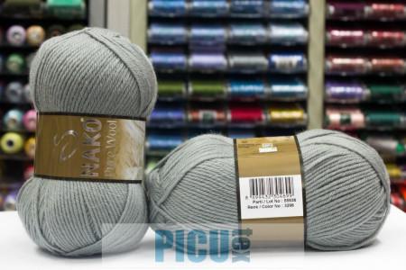 Poze Fir de tricotat sau crosetat - Fire tip mohair din lana 100% Nako PURE WOOL GRI 3298