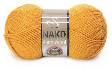 Poze Fir de tricotat sau crosetat - Fire tip mohair din lana 100% Nako PURE WOOL GALBEN 10429