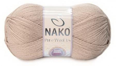 Poze Fir de tricotat sau crosetat - Fire tip mohair din lana 100% Nako PURE WOOL 3,5 BEJ 4459