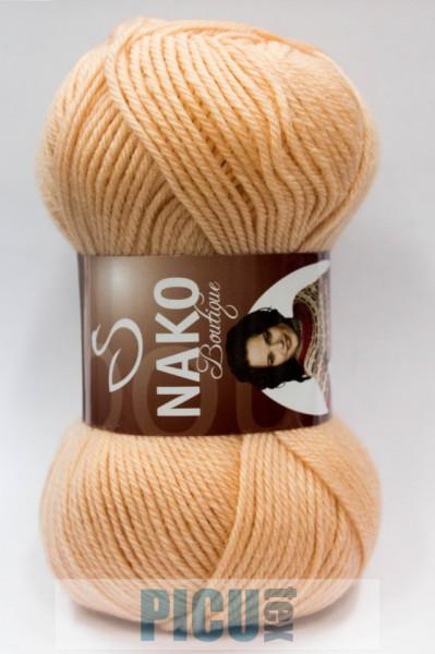 Poze Fir de tricotat sau crosetat - Fire tip mohair din lana 100% Nako Super SAF YUN BEJ 10284