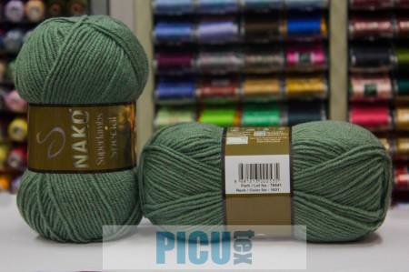 Poze Fir de tricotat sau crosetat - Fire tip mohair din lana 50% si acril 50% Nako Superlambs Special KAKI 1631