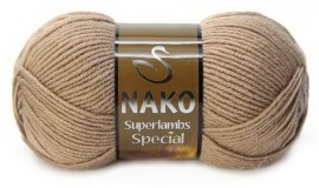 Poze Fir de tricotat sau crosetat - Fire tip mohair din lana 50% si acril 50% Nako Superlambs Special BEJ 10439