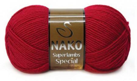 Poze Fir de tricotat sau crosetat - Fire tip mohair din lana 50% si acril 50% Nako Superlambs Special rosu 4426