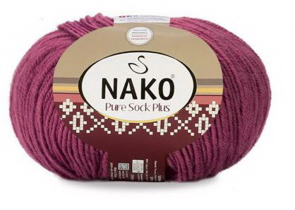 Poze Fir de tricotat sau crosetat - Fire tip mohair din lana si polyamida Nako PURE SOCK PLUS MOV 569