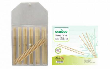 Poze KnitPro BAMBOO - set andrele pentru sosete - 15 cm