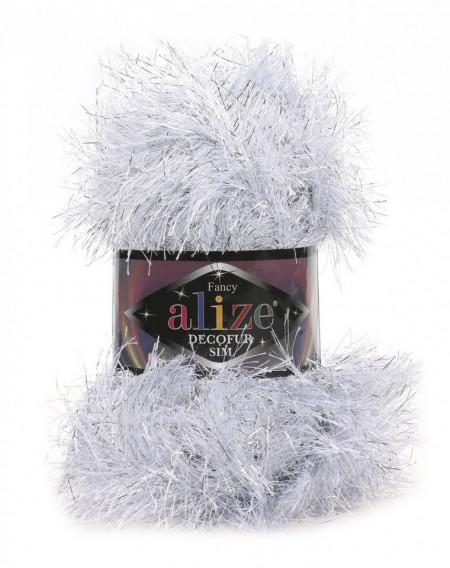 Poze Fir de tricotat sau crosetat - FANCY - ALIZE DECOFUR SIM - ALB - 55