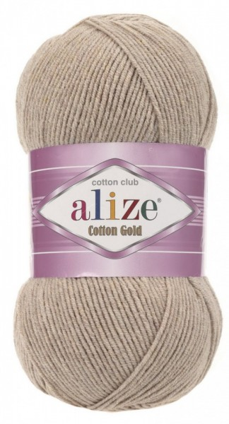 Poze Fir de tricotat sau crosetat - Fir ALIZE COTTON GOLD BEJ 152