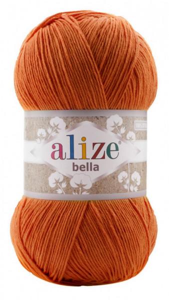 Poze Fir de tricotat sau crosetat - Fir BUMBAC 100% ALIZE BELLA 100 - PORTOCALIU 89