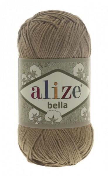 Poze Fir de tricotat sau crosetat - Fir BUMBAC 100% ALIZE BELLA - BEJ 466