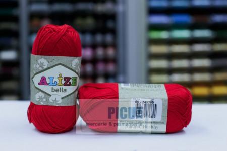 Poze Fir de tricotat sau crosetat - Fir BUMBAC 100% ALIZE BELLA - ROSU 56